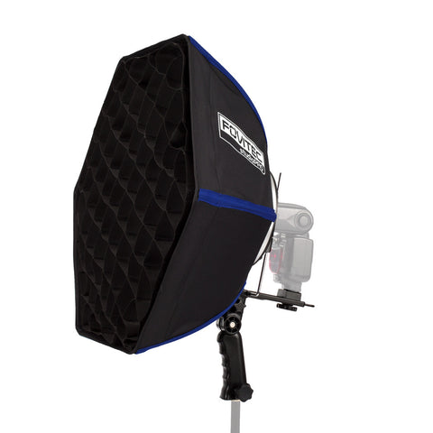 StudioPRO Quick Travel Hexagon Softbox w/ Grid for Speedlight Flash - (Choose Size)