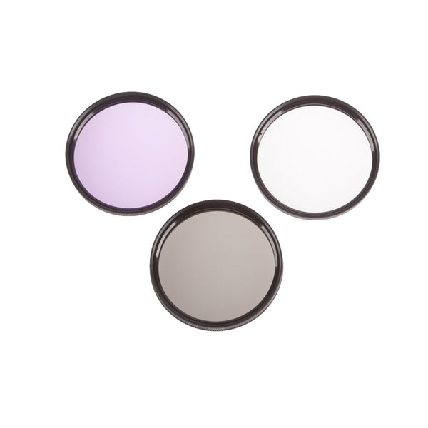 3 Filter Kit - UV, Polarizing, Fluorescent (Select Size)