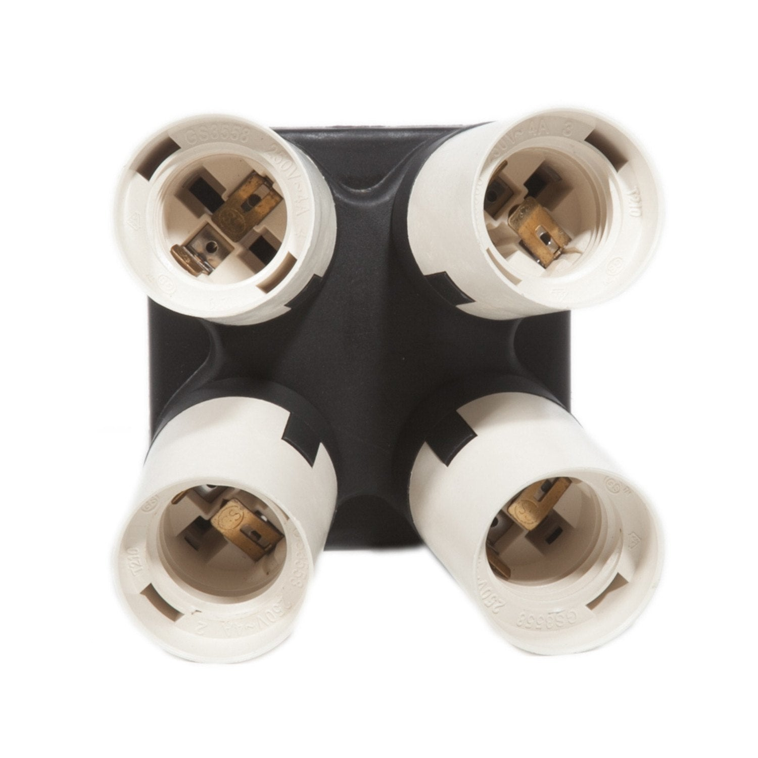 Four Socket Adapter for Photography / Video Fluorescent Light Fixture -