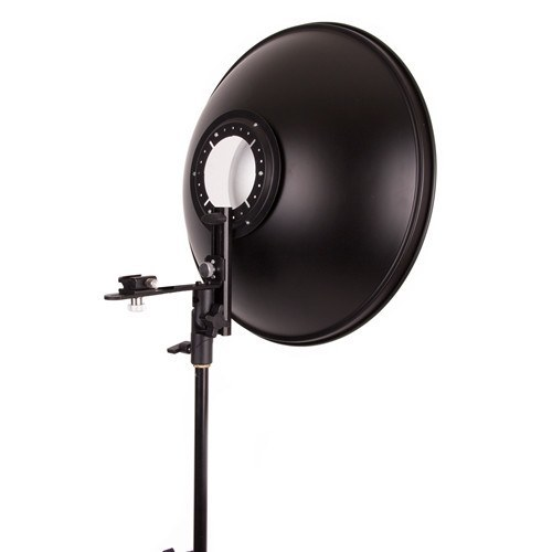 "Beauty Dish 16"" with Honeycomb Grid Interchange for Speedlights -  - 5"
