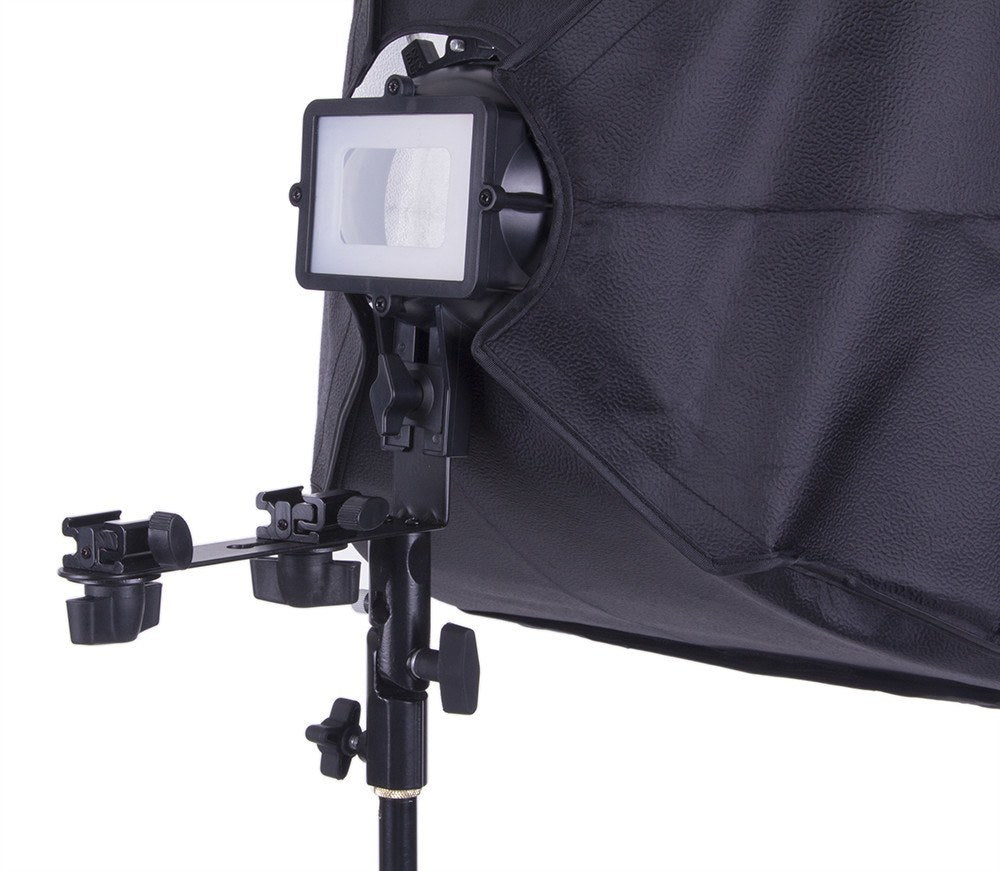"Flash Bracket with 16""x16"" Softbox -  - 6"