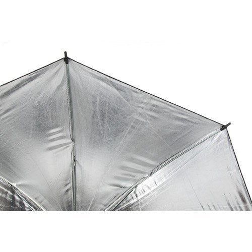 "StudioPRO Black on Silver Umbrella - 33"" -  - 3"