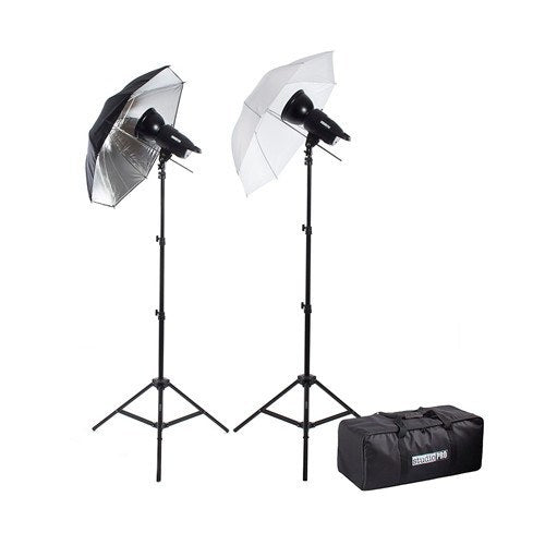 "200W/s Two Strobe Monolight 33"" Umbrella Photo Kit & Carrying Case -  - 1"