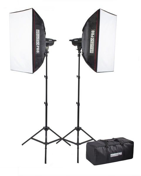 F-Series 150Ws 2-Light Studio Flash Kit with 20x28
