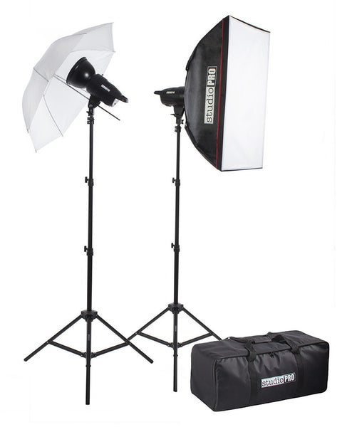 F-Series 150Ws 2-Light Studio Flash Kit with 33