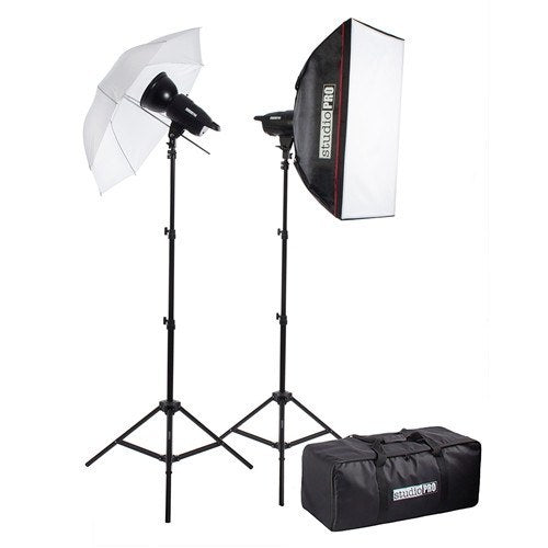 "400W/s Two Strobe 20""x28"" Softbox 33"" Umbrella Kit & Carrying Case -  - 1"