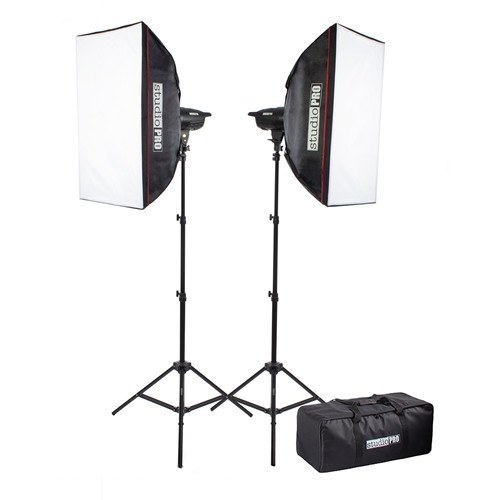 "400W/s Two Strobe 20""x28"" Softbox Kit & Carrying Case -  - 1"