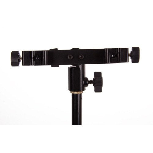 Dual Hot Shoe/Flash Bracket with Umbrella Socket -  - 4