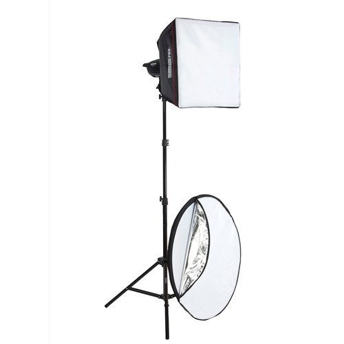 "StudioPRO One 100W/s Monolight 20"" Square Softbox & 5 in 1 Reflector 43"" Portrait Kit -  - 1"