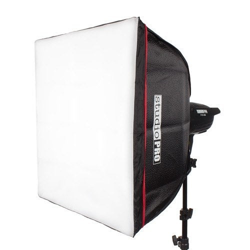 "StudioPRO Two 150W/s Monolights 20"" Square Softbox Kit Carrying Case -  - 3"