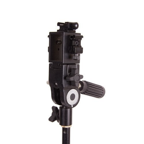 Triple Hot Shoe/Flash Bracket with Umbrella Socket -  - 2