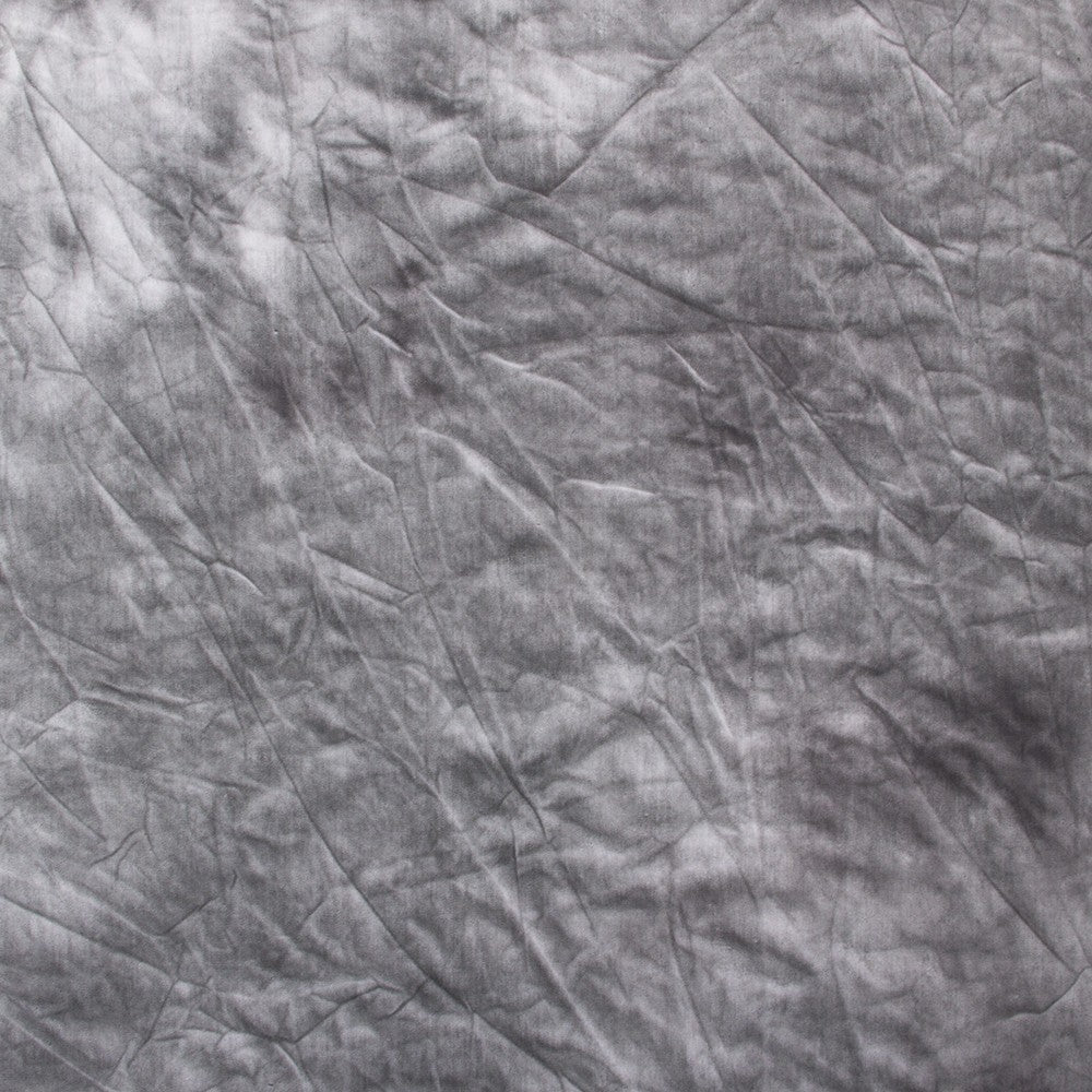Hand Painted Tie Dye Dark Grey Muslin Backdrop (Select Size) -