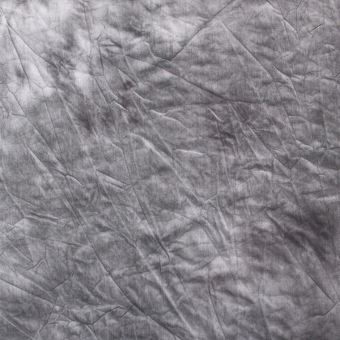Hand Painted Tie Dye Dark Grey Muslin Backdrop (Select Size)