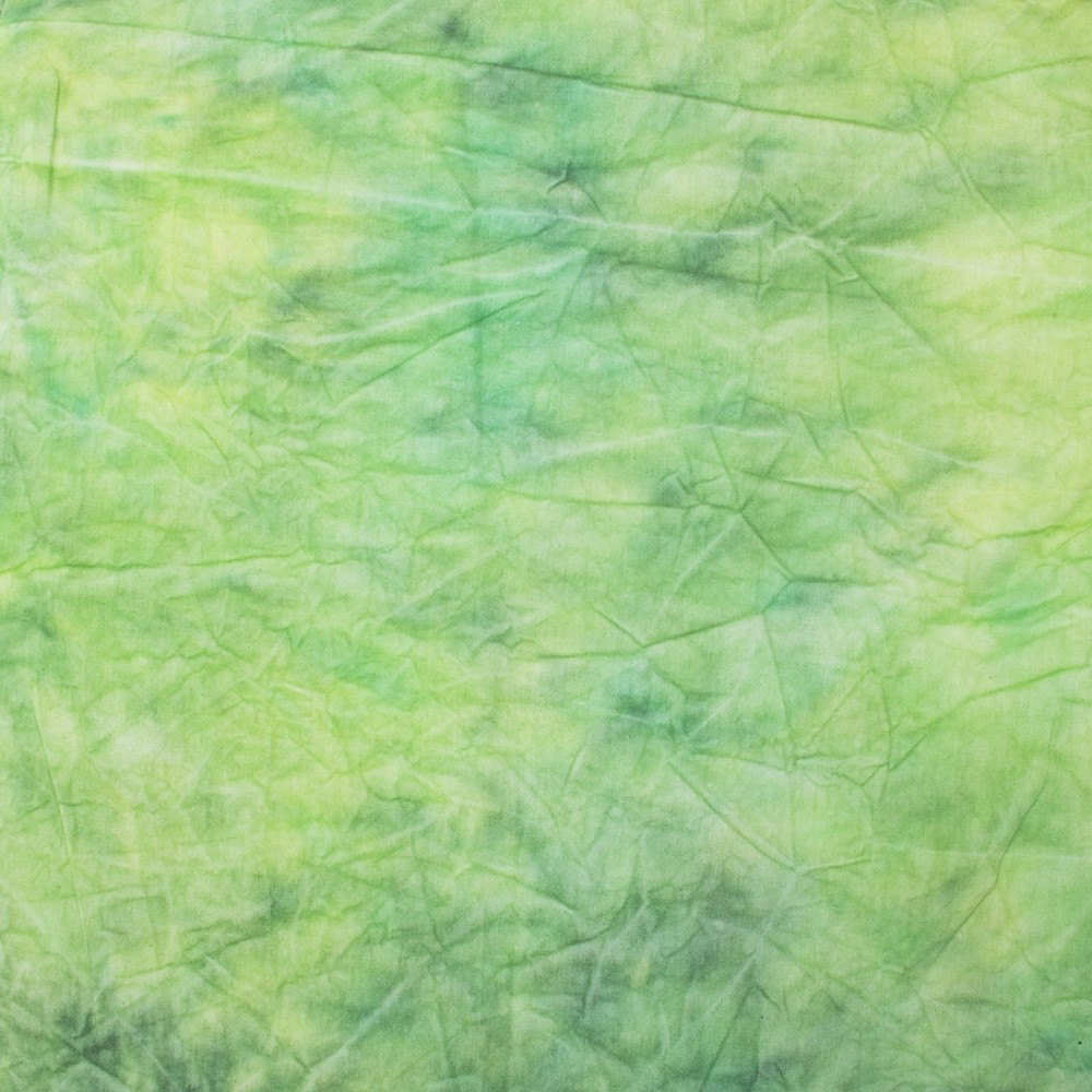 Hand Painted Tie Dye Spring Green Muslin Backdrop (Select Size) -