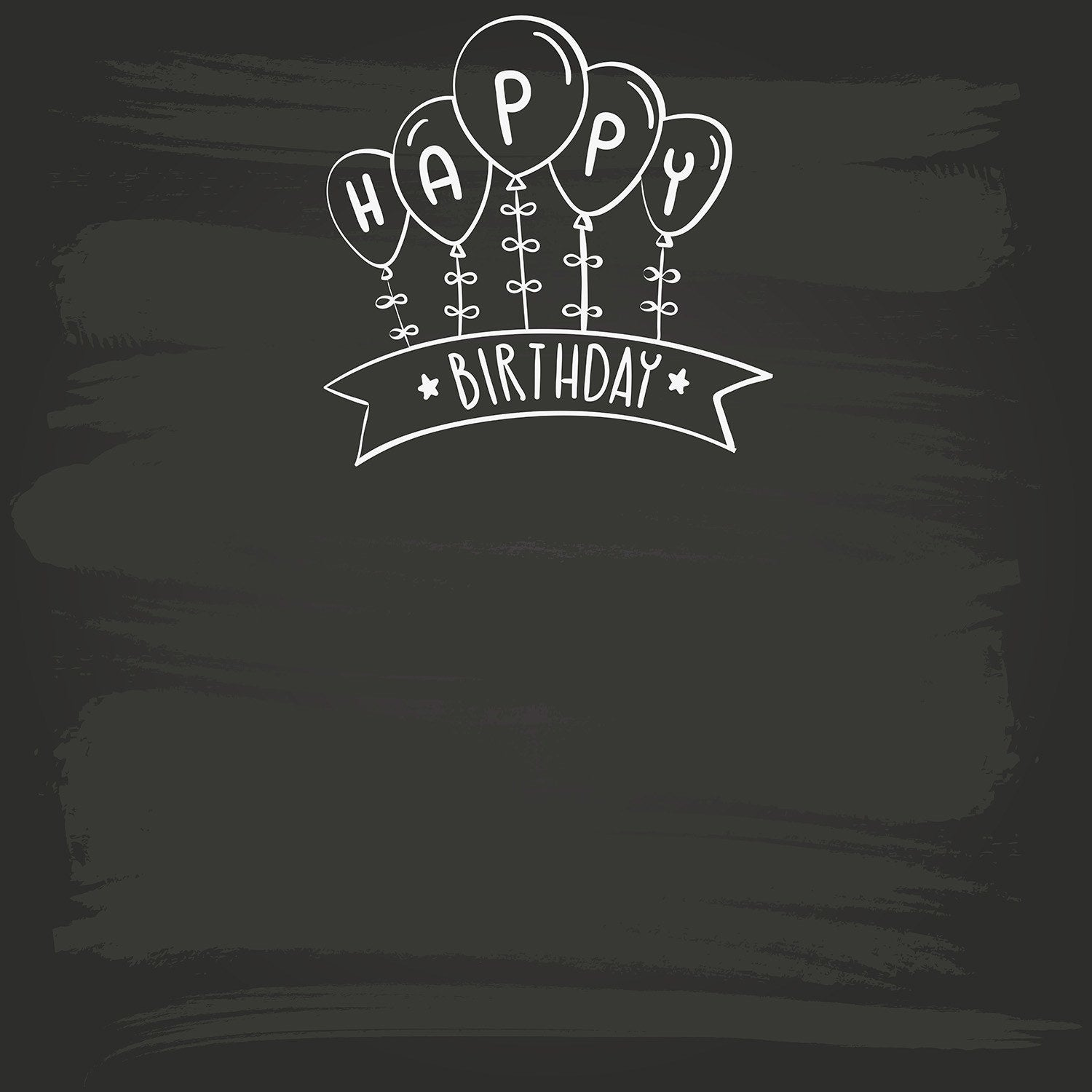 StudioPro Vinyl Chalk Kids Birthday Backdrop - (Choose Size) -
