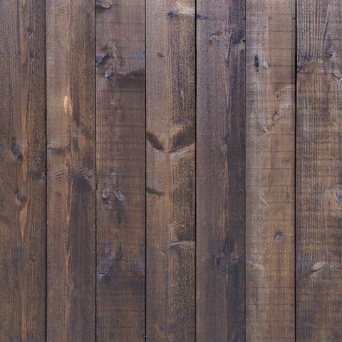 StudioPRO Vinyl Deep Brown Wood Floor Backdrop - (Choose Size)