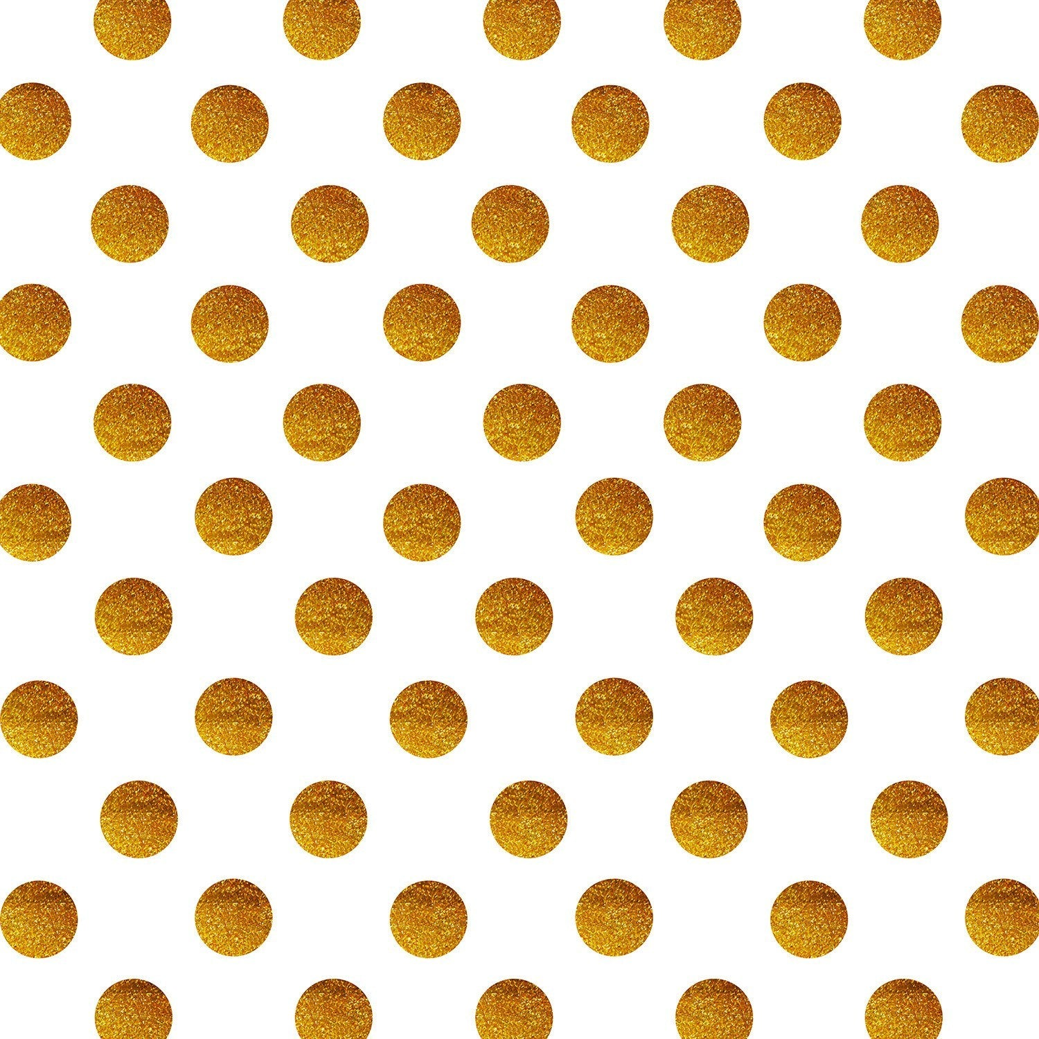 StudioPRO Vinyl Gold Glitter Dots Party Backdrop - (Choose Size) -