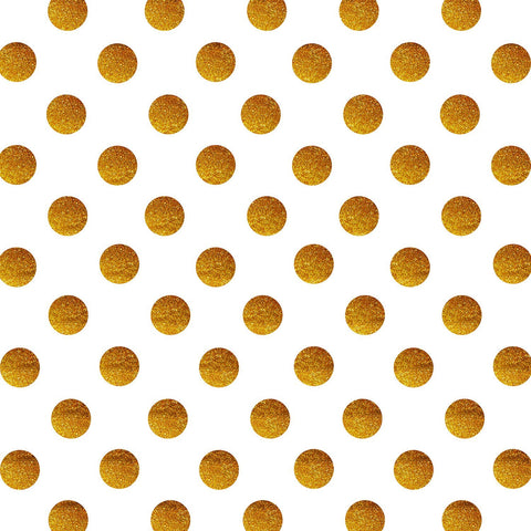 StudioPRO Vinyl Gold Glitter Dots Party Backdrop - (Choose Size)