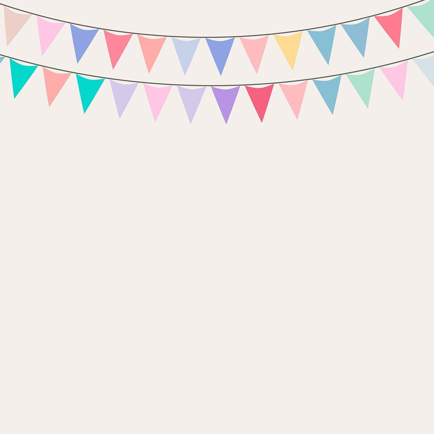 StudioPro Vinyl Party Garland Backdrop - (Choose Size) -  - 1