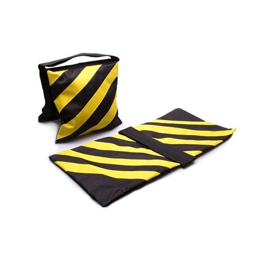 Sandbags, Black & Yellow Stripes - 2-Pack