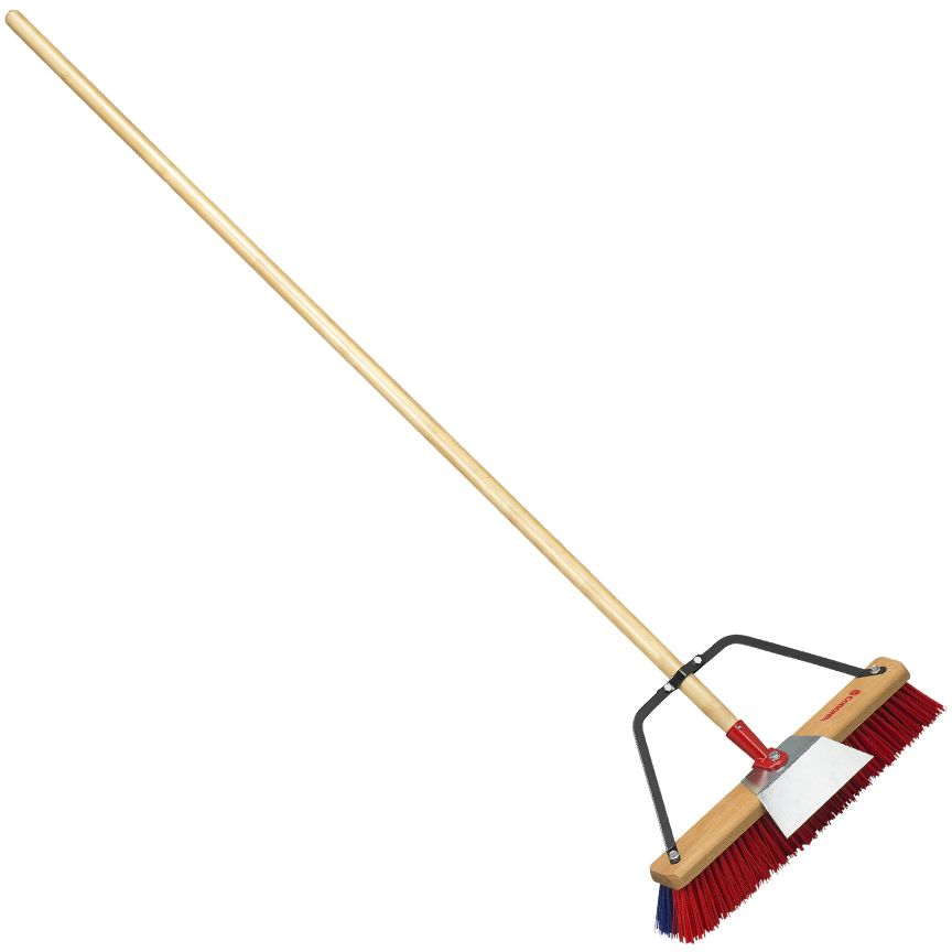 Landscape Broom with Scraper