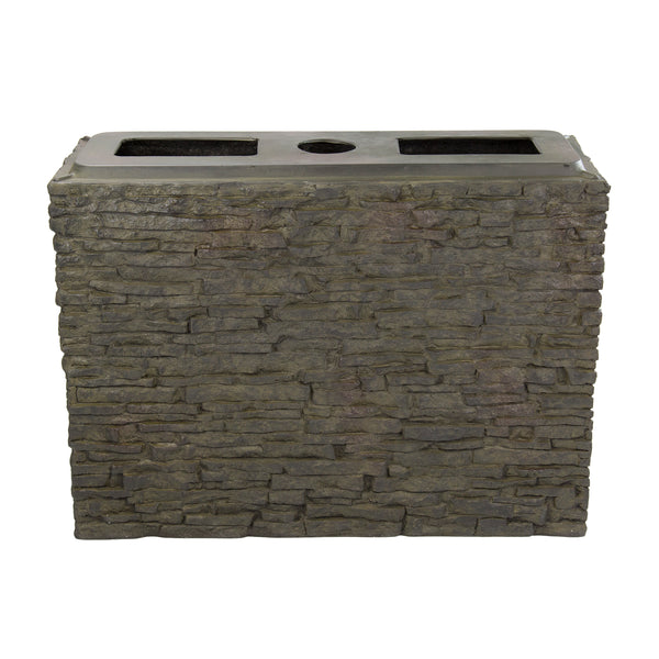 Stacked Slate Wall Fountains - Straight