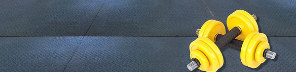 "Rubber Gym/Industrial Mat - 4'x6'x1/2"" Dimple"