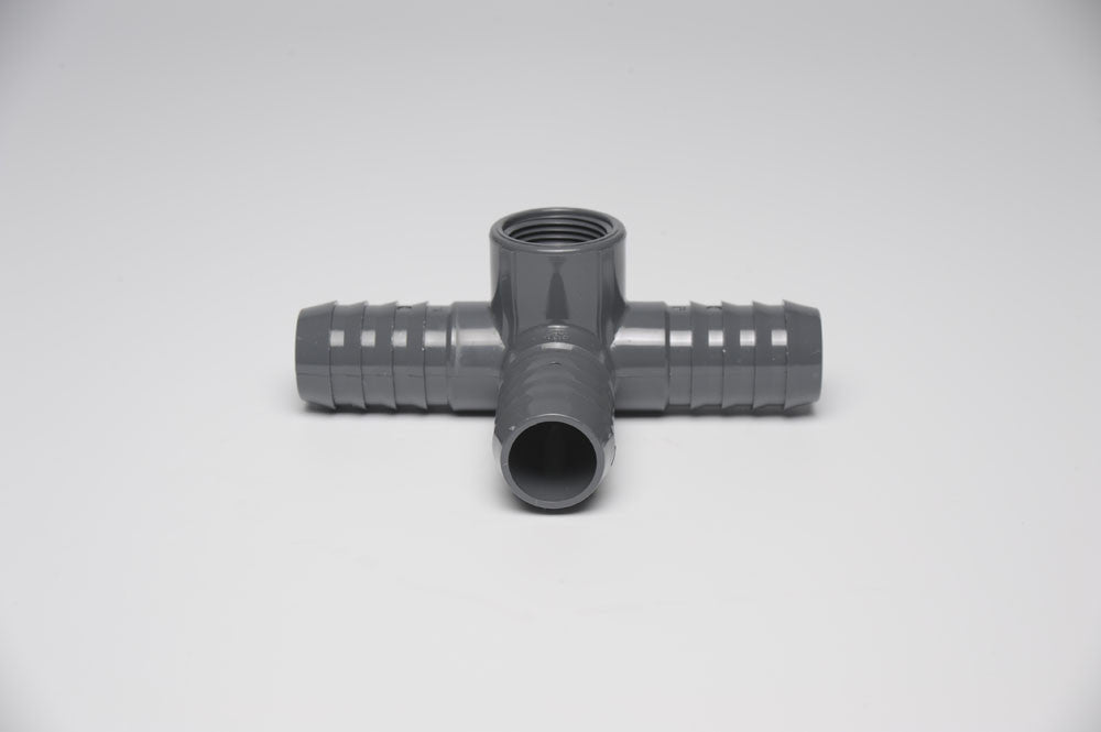 "3/4"" x 3/4"" x 3/4"" x 1/2"" Side Outlet Tee"
