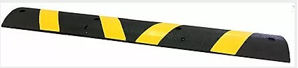 "Rubber Speed Bump w/Reflective Strip - 6' x 12"" x 2.5"""