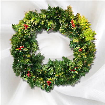 Holidynamics Estate Wreath (Battery Operated - LED)