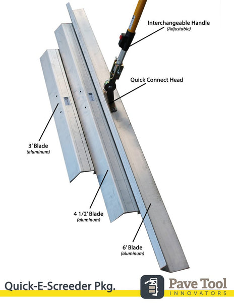 Quick-E Screeder Pkg (3', 4.5', 6' & Handle)