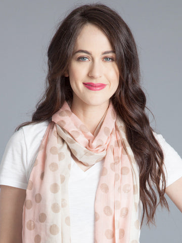 Polka Dot Scarf - Blush