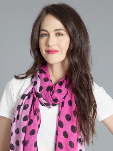 Polka Dot Scarf - Orchid