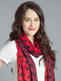 Polka Dot Scarf –Red/Burgundy