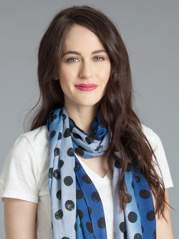 Polka Dot Scarf –Royal/Slate