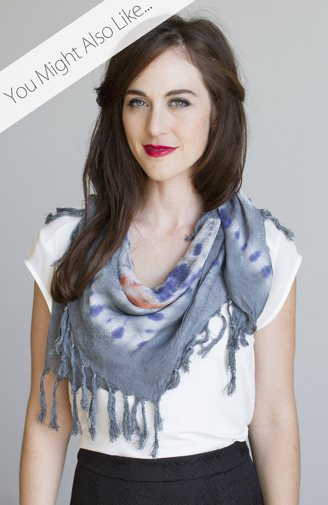 Medallion Wash Scarf in Slate