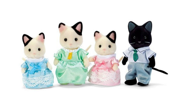 Calico Critters: Tuxedo Cat Family