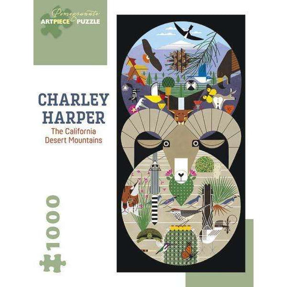 Charley Harper: The California Desert Mountains (1000 pieces)