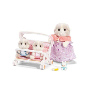 Calico Critters: Patty & Paden's Double Stroller Set