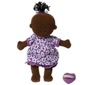 Wee Baby Stella Brown Doll with Black Hair