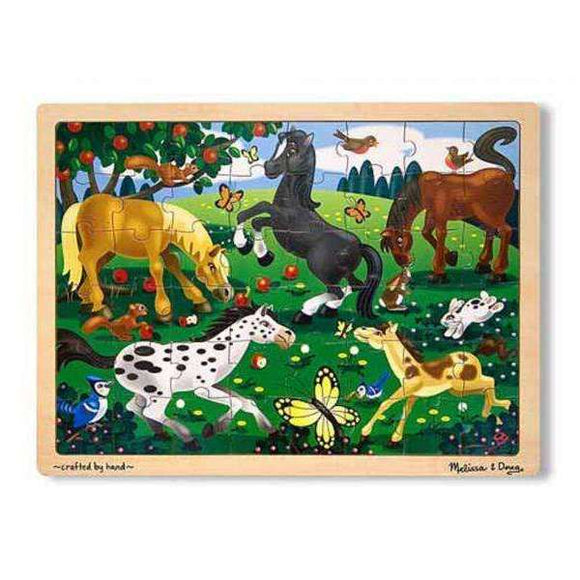 Frolicking Horses wooden puzzle (48 pieces)