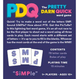PDQ, the Pretty Dark Quick Word Game