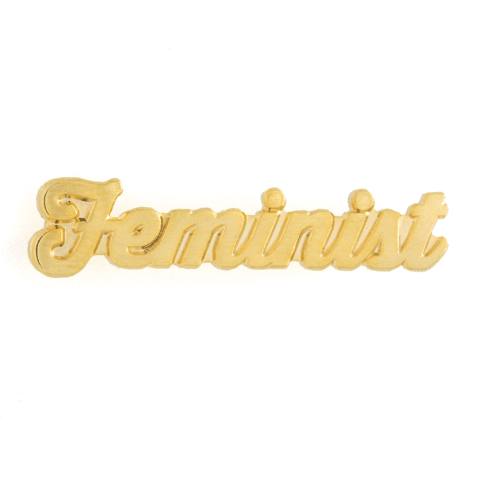 These Are Things - Feminist Gold Enamel Pin