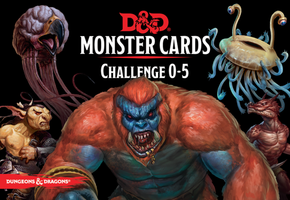 D&D 5e: Monster Cards - Challenge 0-5 Deck (268 cards)