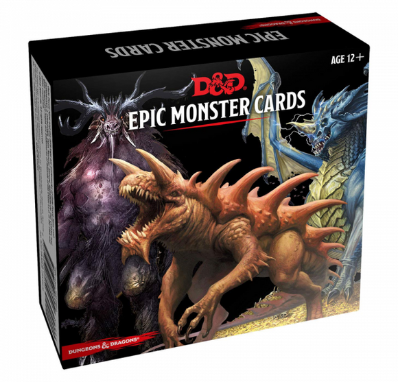 D&D 5e: Epic Monster Cards (77 oversized cards)