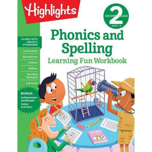 Highlights Learning Fun Workbook: Second Grade Phonics and Spelling