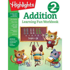 Highlights Learning Fun Workbook: Second Grade Addition