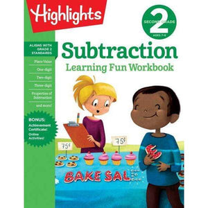 Highlights Learning Fun Workbook: Second Grade Subtraction
