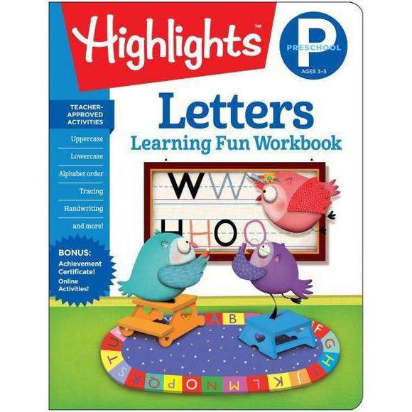 Highlights Learning Fun Workbook: Preschool Letters