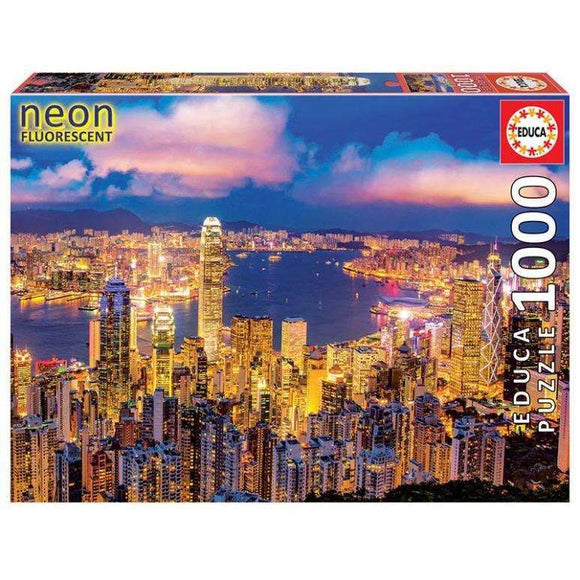 Hong Kong Skyline Neon (1000 pieces)